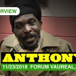 Interview of Anthony B [11/23/2018] Forum Vauréal, France