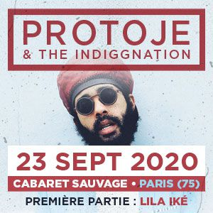 Sept. 23rd, 2020 - Protoje @ Cabaret Sauvage