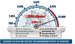 DSL Speedtest - Geschwindigkeit Internet testen