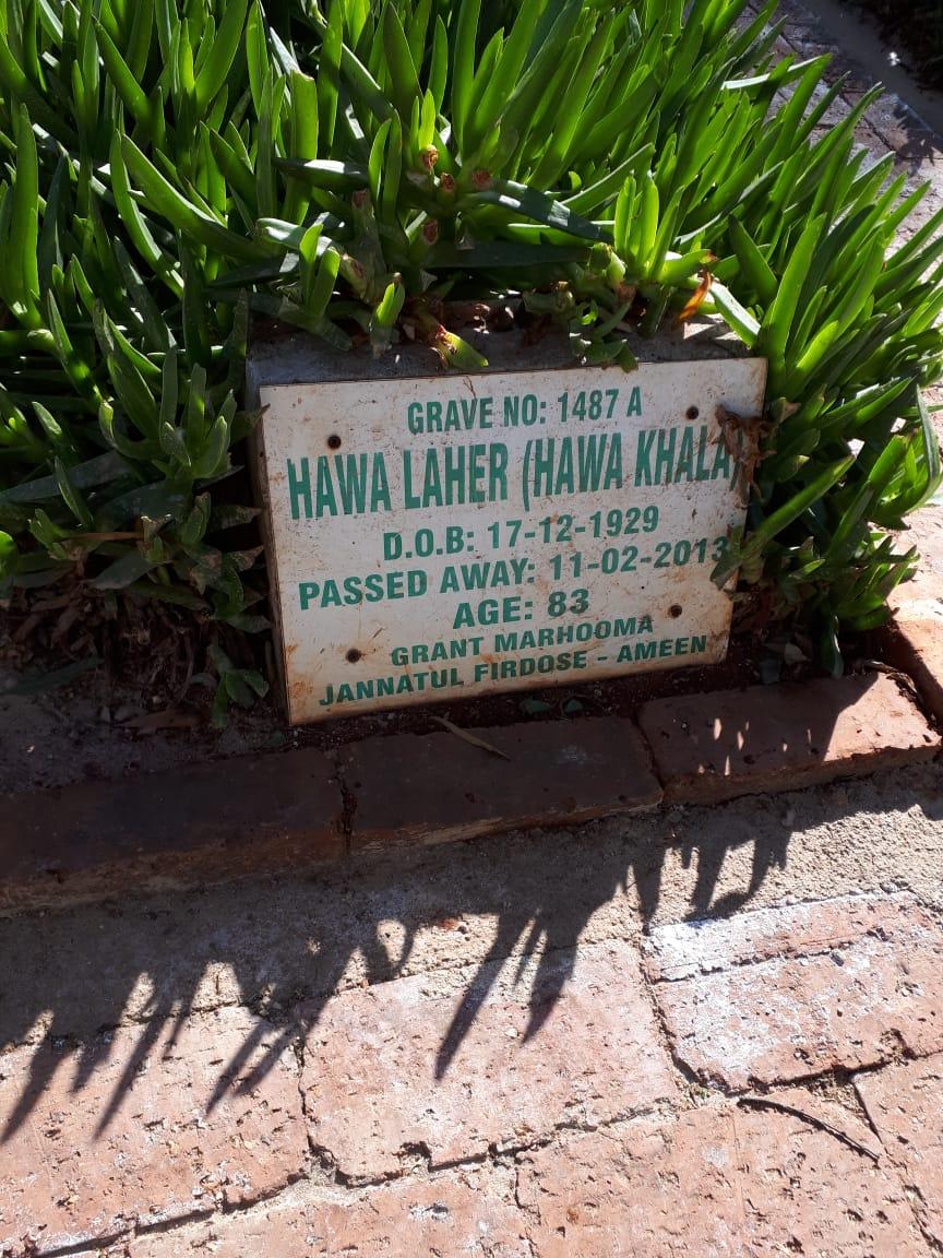 Hawa Laher (Hawa Khala) Feb 11, 2013