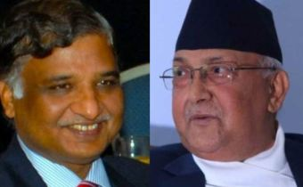 India's foreign intelligence agency, Research and Analysis Wing (RAW) chief Samanta Goel Meeting Nepalese Prime Minister KP Oli