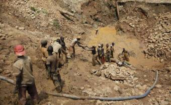 Landslide kills five in gold mine, leaves 70 missing