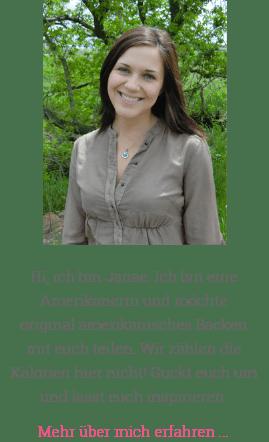 Profilbild von Janae Tilmans und Willkommenstext