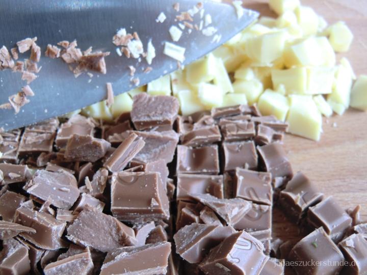 Brownie Cookies gehackte Schokolade
