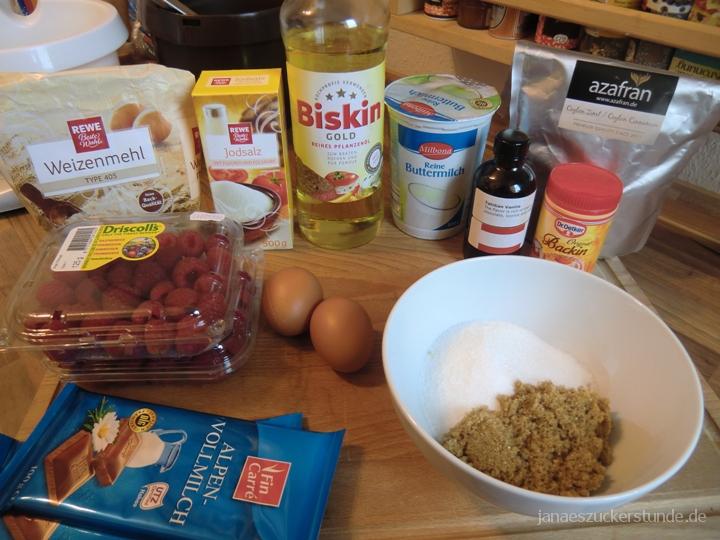 Schoko Himbeer Muffins
