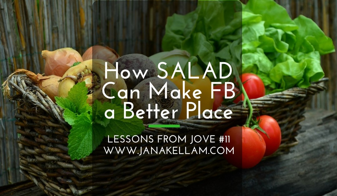 Lessons from Jove #11: How SALAD Can Make FB a Better Place