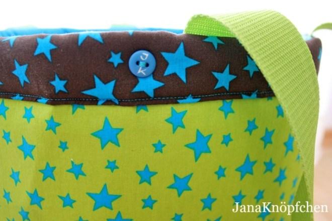 Stoffkorb nähen für praktische Spielzeugaufbewahrung. JanaKnöpfchen - Nähen für Jungs