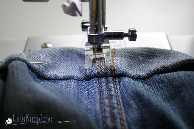 Tutorial Kürzen von Jeans die Naht des Umschlages nähen. JanaKnöpfchen - Nähen für Jungs