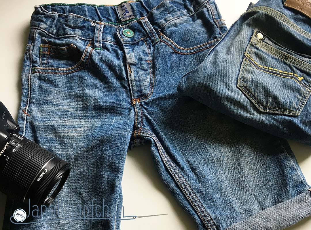 Tutorial: Kürzen der Jeans Teil 2 Jeans mit Umschlag nähen