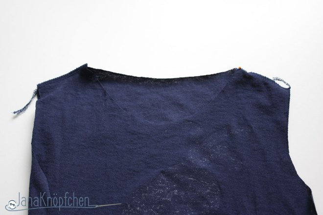 Tutorial upcycling t-shirt aus groß nähe klein. Schulternaht nähen. JanaKnöpfchen Nähen für Jungs