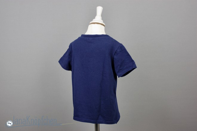 Tutorial upcycling t-shirt aus groß nähe klein. Saum nähen. JanaKnöpfchen Nähen für Jungs
