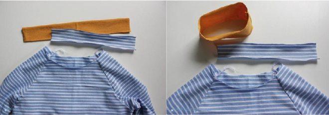 Tutorial Halsausschnitt versäubern - Streifen zuschneiden. JanaKnöpfchen - Nähen für Jungs