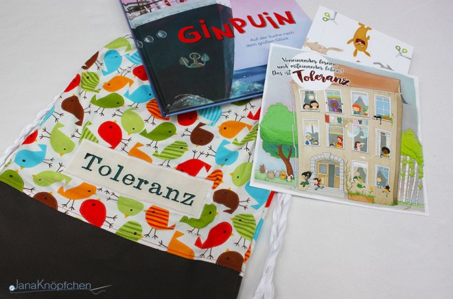 Projekt Bücherrucksäcke Kooperation mit dem Familienzentrum Schwielowsee. JanaKnöpfchen - Nähen für Jungs