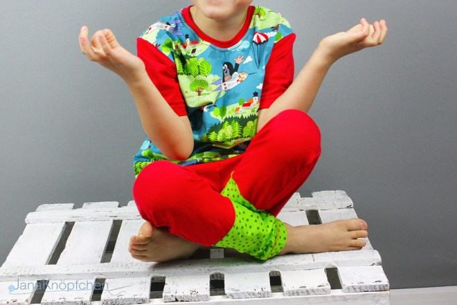 Selbstgenähten Pauli-Schlafanzug für Jungs. JanaKnöpfchen - Nähen für Jungs