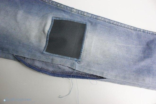 Tutorial wie flicke ich eine Jeans? Flicken ist auf dem Hosenbein aufgenäht. JanaKnöpfchen - Nähen für Jungs