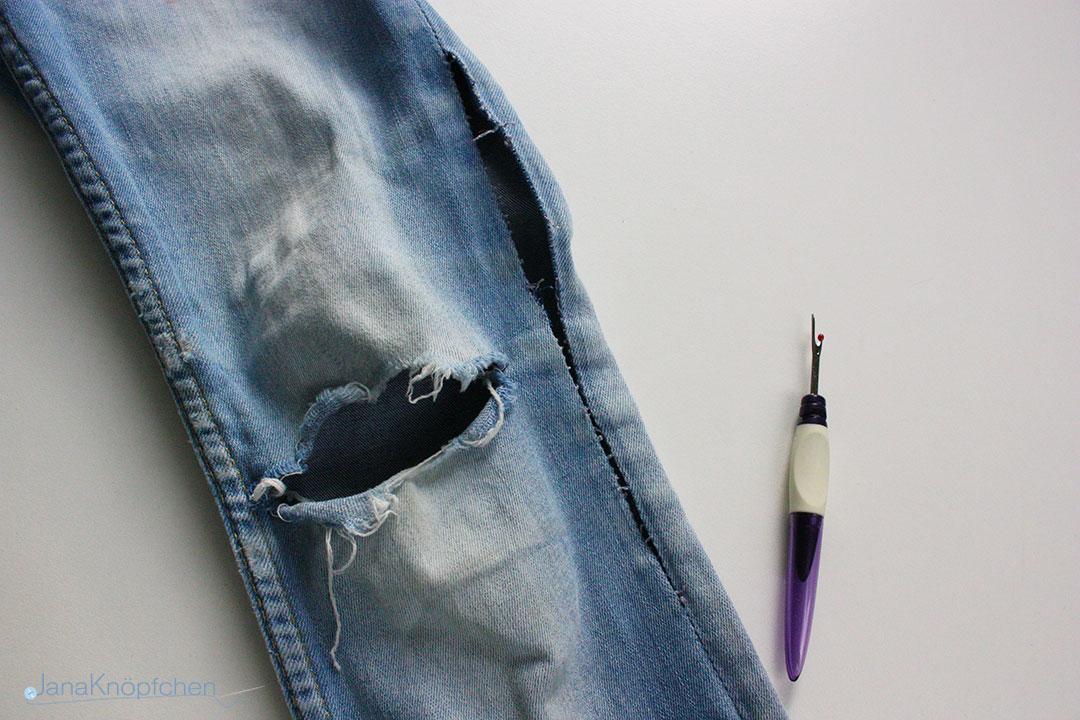 Tutorial: Wie flicke ich eine Jeans? JanaKnöpfchen