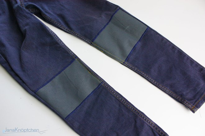 Tutorial Jeans flicken mit großen Flicken. JanaKnöpfchen - Nähen für Jungs