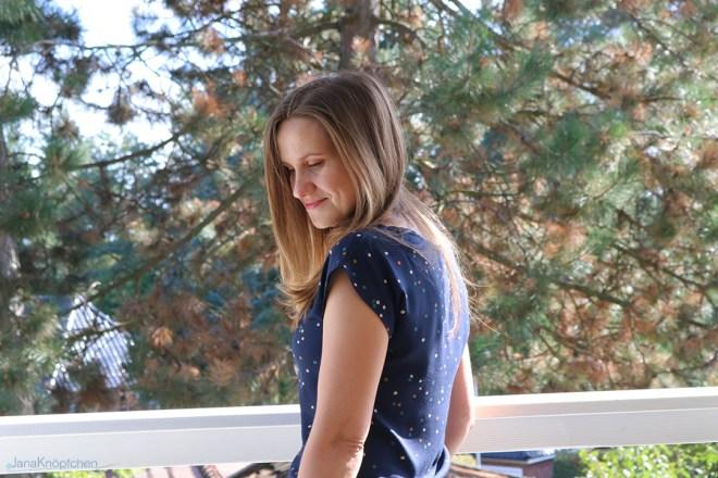 Blogpost erstes selbstgenähtes T-Shirt Kimono-Tee aus Viskose. JanaKnöpfchen - Nähen für Jungs