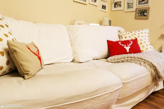 Weihnachtskissen nähen fürs Sofa. JanaKnöpfchen - Nähen für Jungs