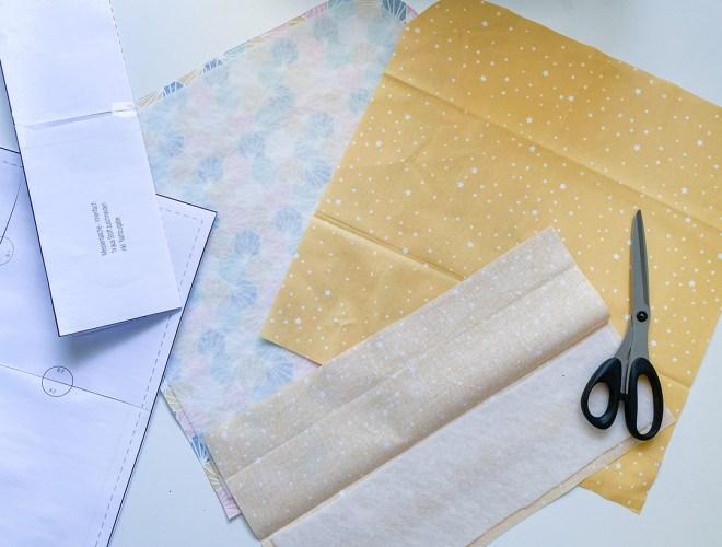 Materialien für die selbstgenähte Messertasche. JanaKnöpfchen - Nähen für Jungs