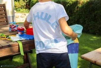 T-Shirt Schule für die Einschulung nähen. JanaKnöpfchen - Nähen für Jungs