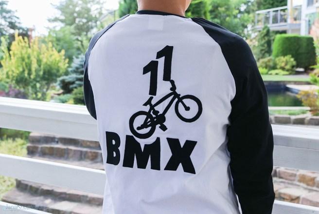 BMX Applikation auf Shirt genäht. JanaKnöpfchen - Nähen für Jungs
