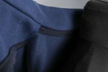 Einfassung des Kragens der selbstgenähten Strickjacke. JanaKnöpfchen - Nähen für Jungs