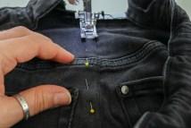 Zweite Naht an Jeans nähen. JanaKnöpfchen - Nähen für Jungs