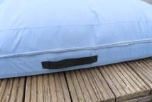 Tragegriff aus Gurtband für Schutzhülle der Auflagen. JanaKnöpfchen