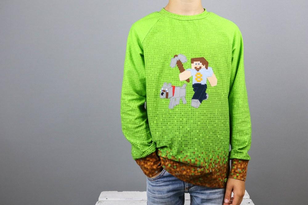 Minecraftgeburtstagsshirt nähen. JanaKnöpfchen - Nähen für Jungs