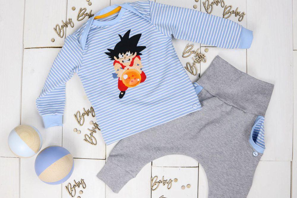 Son Goku Babyset nähen. Geschenk zur Geburt. JanaKnöpfchen - Nähen für Jungs