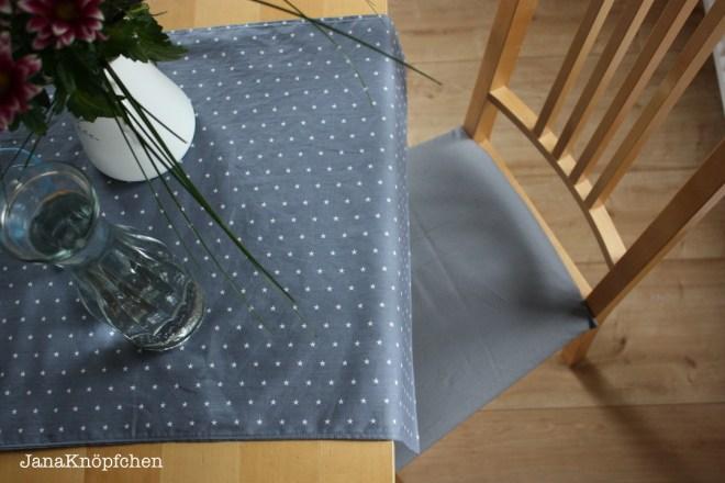 Sitzbezüge nähen und Tischläufer fürs Eßzimmer. JanaKnöpfchen - Nähen für Jungs
