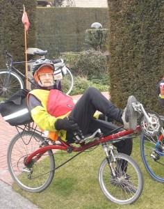 Jan Bossuyt op de ligfiets