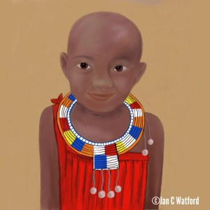 African child by Jan Clifton Watford