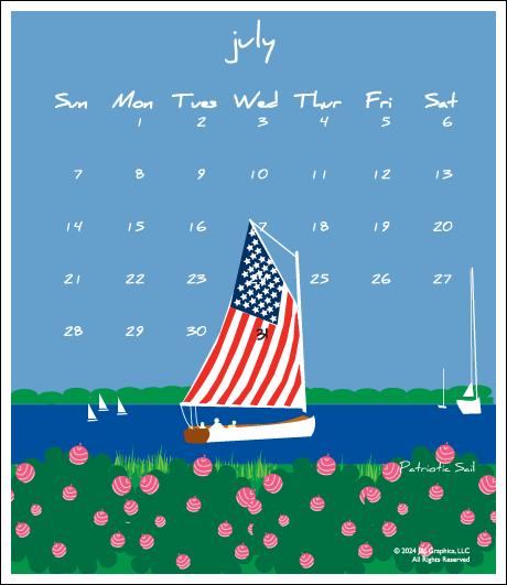 Nantucket Jewel Case Calendar By J Amp J Graphics