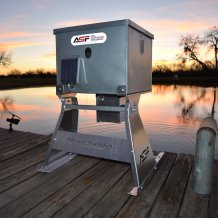 100lb D.A.M. Fish Feeder From All Season Feeders at J&N Feed and Seed in Graham, Texas.