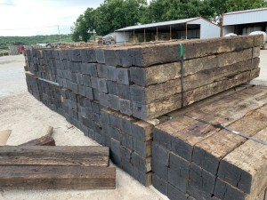 Railroad ties available at J&N Feed and Seed in Graham, TX.