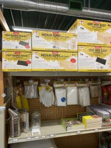 Beekeeping Supplies From Little Giants at J&N Feed and Seed in Graham, Texas.