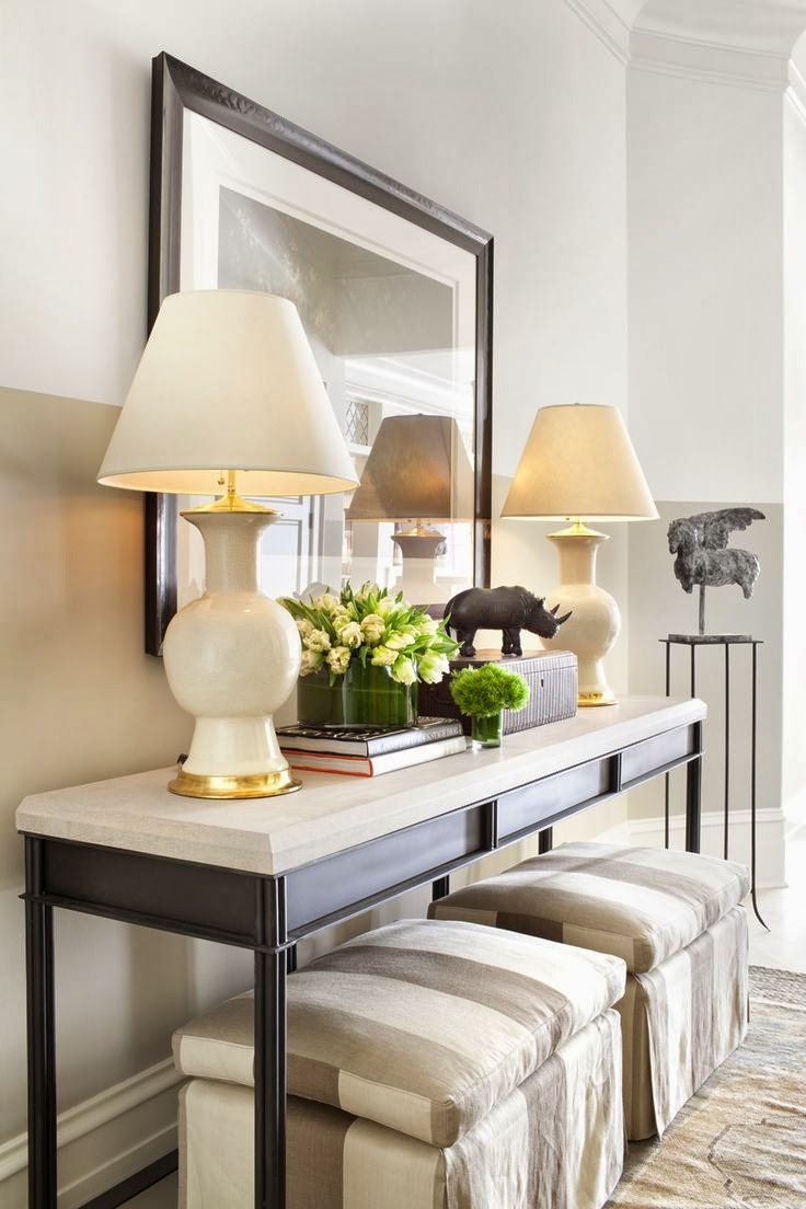 entryway table creating inviting impression at the first sight. Entryway Ideas For A Stylish First Impression. Source: Pinterest Table Creating Inviting Impression At The Sight