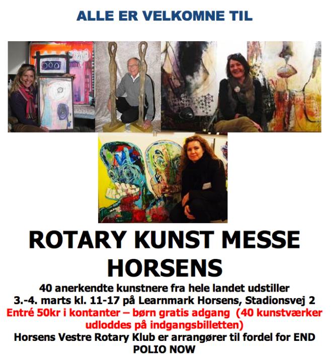 Invitation til Rotery Kunstmesse