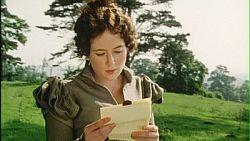 Carta Orgulho e preconceito: Elizabeth Bennet lendo