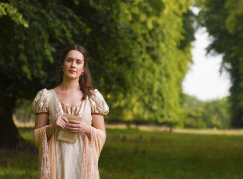 Vanessa Grace Buckley, no papel de Jane Austen
