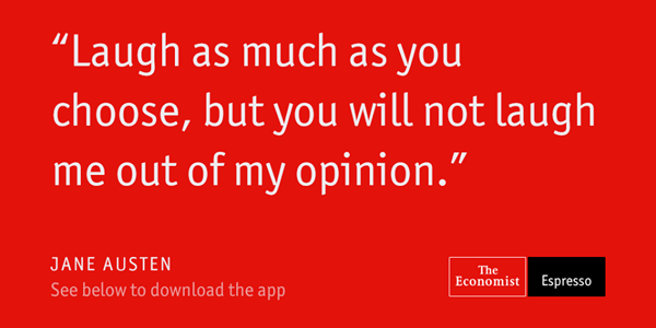 Jane Austen, The Economist