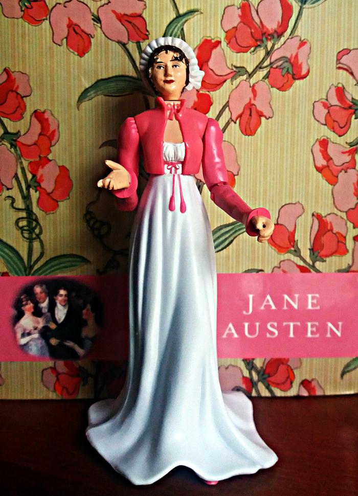 Boneca Jane Austen Action Figure Rosa