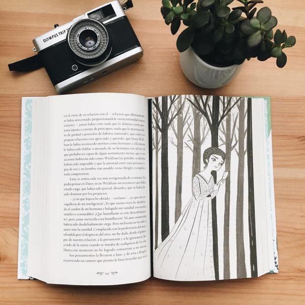 Orgullo y Prejuicio Maria Hesse ilustração em preto e branco