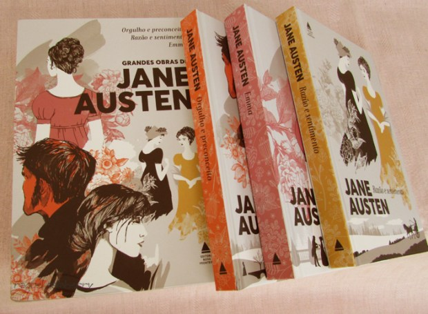 Jane Austen Nova Fronteira Box com três livros