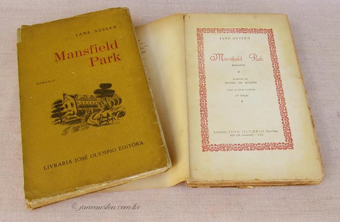 Primeiras traduções de Jane Austen no Brasil - Mansfield Park