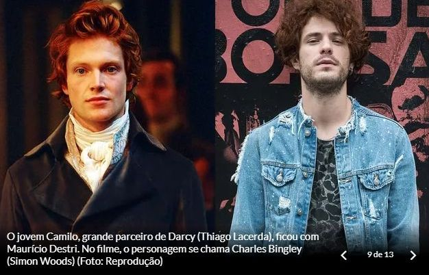 Personagens de Orgulho e Paixão: Bingley