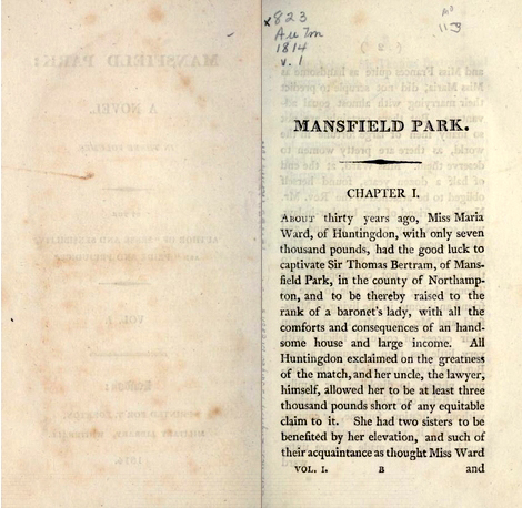 Mansfield Park, volume I