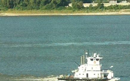 lone tugboat